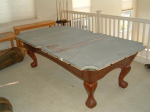 Proper pool table moving process in Muskegon Michigan